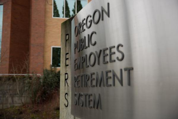 <p>The Oregon Public Employees Retirement System (PERS) building in Tigard, Oregon, on Sunday, Jan. 6, 2019.</p>