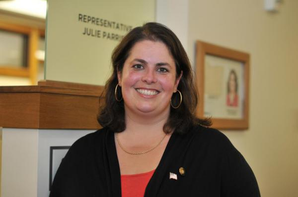 <p>Former Republican lawmaker Julie Parrish is working on a ballot measure to try to address the ballooning costs of PERS.</p>