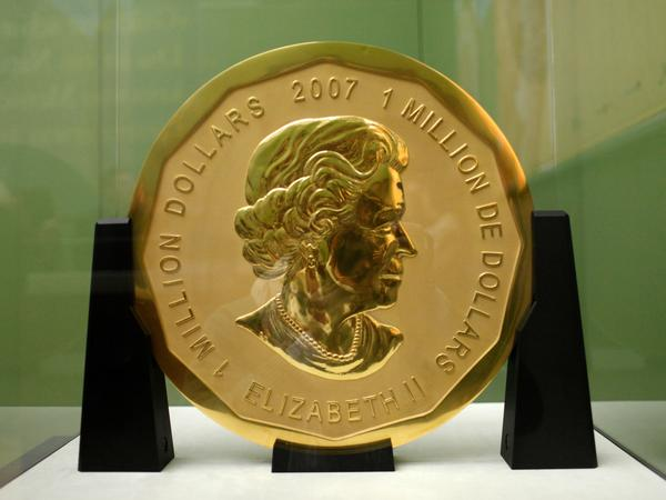 "The ""Big Maple Leaf"" went on display at Berlin's Bode Museum in 2010. Thieves stole the gold coin with a face value of $1 million and weighing 220 pounds in a surprisingly analogue heist."