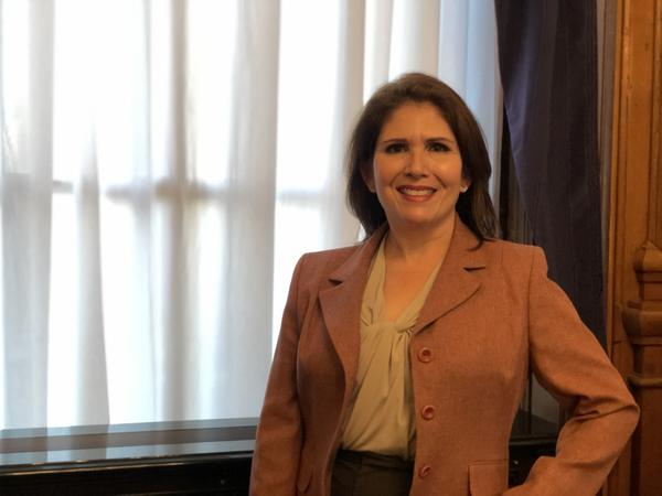 Outgoing Republican Lt. Gov. Evelyn Sanguinetti will pass on the baton to Juliana Stratton next week, when a new administration is sworn in.