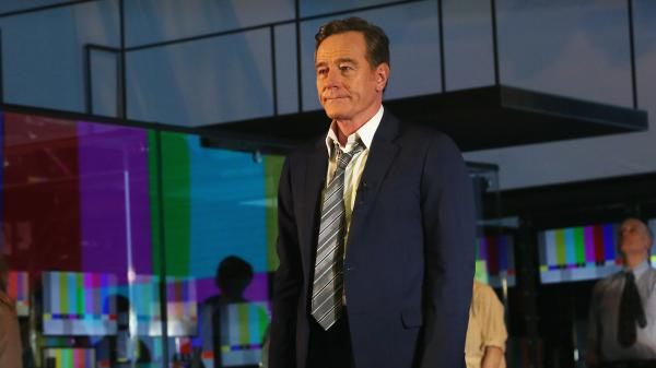 Bryan Cranston takes his opening night curtain call in the Broadway version of <em>Network.</em>