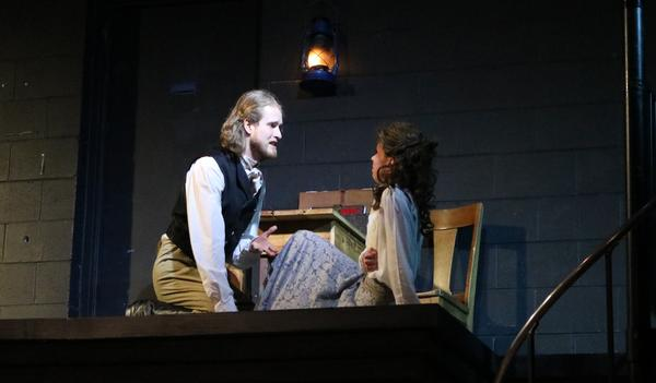 Christopher McBennett as Claudio and Rosemary Richards as Isabella in Shakespeare's 'Measure for Measure,' on stage in Raleigh January 11th - 27th.