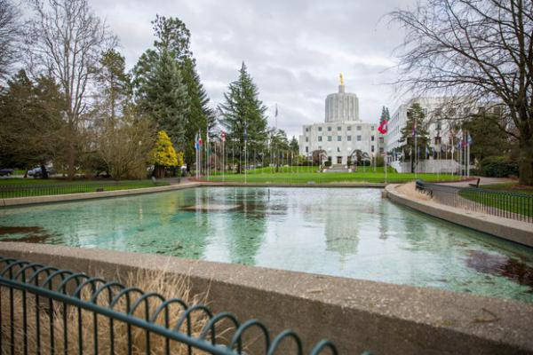 <p>The Oregon Capitol is pictured March 18, 2017.</p>