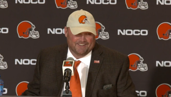 New Browns head coach Freddie Kitchens speaks at a press conference on Jan. 14.