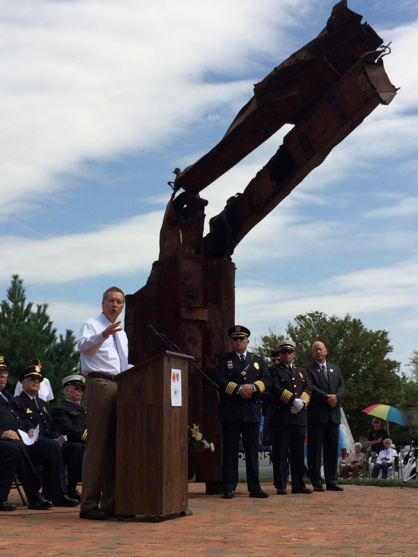 Gov. John Kasich speaks at a 9-11 memorial in his hometown of Westerville in 2015.