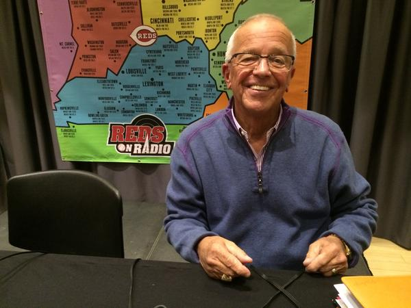 Marty Brennaman at a Reds Hot Stove League broadcast in 2016.