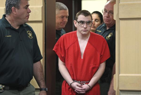 Nikolas Cruz appeared in court for a hearing on Jan. 8, 2019. He wore the same glasses in his Jan. 18, 2019 court appearance.