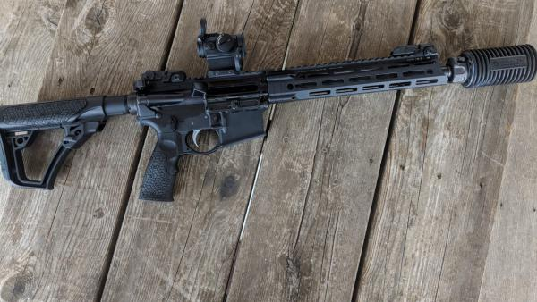 AR-15 and AR-15-style rifles like the one pictured have been the most popular sellers for about a decade, according to Lawrence Keane of the National Shooting Sports Foundation.