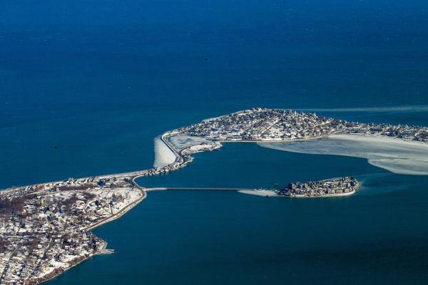 Spinnaker Island in Hull (Jesse Costa/WBUR)