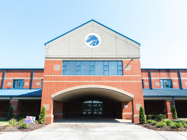 Walker Valley High School in Cleveland, Tenn., is surrounded by rolling hills and factories.