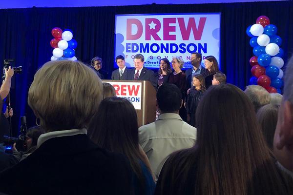 Democrat Drew Edmondson concedes his race for Oklahoma governor.