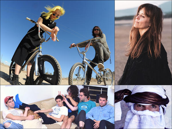 Clockwise from upper left: Better Oblivion Community Center, Heather Woods Broderick, Mdou Moctar, Bellows
