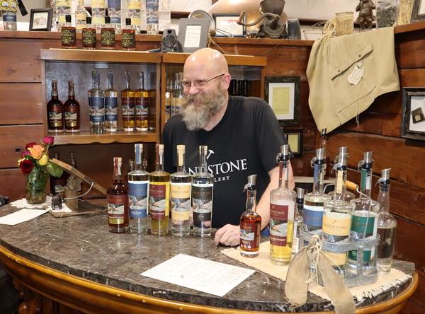 Sandstone Distillery owner John Bourdon
