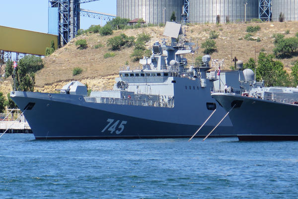 Russia recently introduced a new frigate, the Admiral Grigorovich, and invited journalists on board at the Russian base in Sevastopol, Crimea. While the Russians have had a naval base in Sevastopol since the 18th century, Russia's seizure of the entire Crimean Peninsula from Ukraine in 2014 has heightened tensions with NATO.