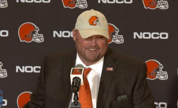 The Browns introduced Freddie Kitchens as the team's new head coach on Jan. 14, 2019.