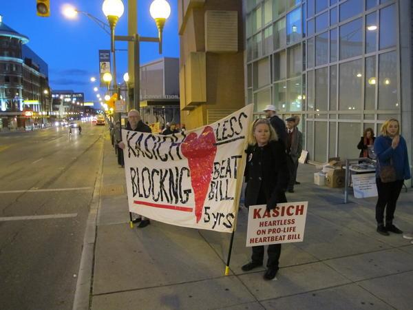 Heartbeat Bill protestors