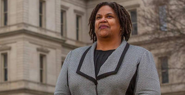 Lavora Barnes is the first African-American woman to be elected chair of the Michigan Democratic Party.