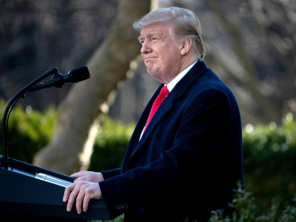 President Trump speaks on a deal to end the partial government shutdown last month. While Trump is expected to maintain his demand for border wall funding in his State of the Union speech, he is also expected to mention issues that carry bipartisan support.