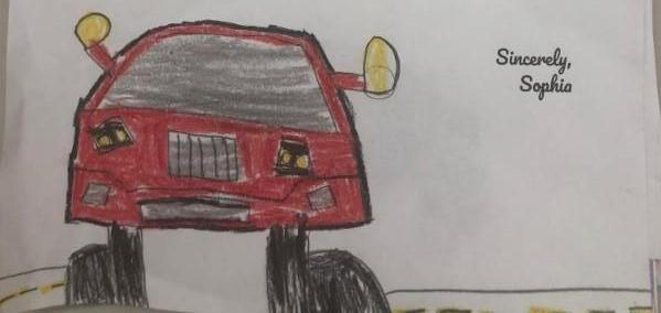 Mahoning and Trumbull county students drew pictures and wrote letters to GM CEO Mary Barra.