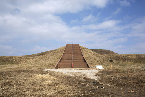 Cahokia Mounds State Historic Site visitors can climb Monks Mound, which has more than 150 steps.