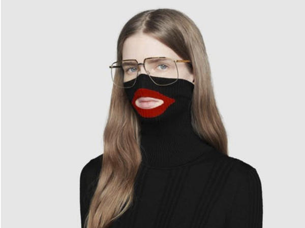 """A screenshot showing Gucci's black turtleneck sweater before the luxury brand pulled it from its online and physical stores. Gucci apologized following complaints the garment resembled """"blackface."""""""