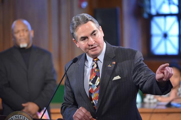Springfield Mayor Domenic Sarno in February 2018.
