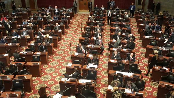 Members of the Missouri House of Representatives debate the chamber's prescription drug monitoring bill on Wednesday.