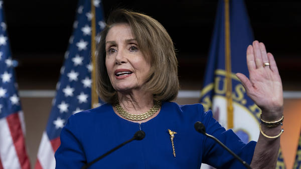 "House Speaker Nancy Pelosi, D-Calif., told reporters at her weekly news conference that Democrats will continue to press for the president's tax returns but need to proceed in a ""very careful way."""