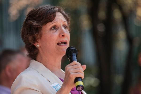 <p>On Friday, June 26, 2015, community members gathered in downtown Portland to celebrate the Supreme Court decision to legalize LGBT marriage across the country. Congresswoman Suzanne Bonamici spoke about the advancement of gay marriage in Oregon. </p>