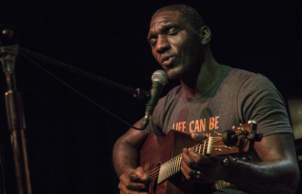 "Cedric Burnside plays Vaudeville Mews in Des Moines, Iowa on Dec. 1, 2018 in support of his Grammy Nominated ""Benton County Relic."""