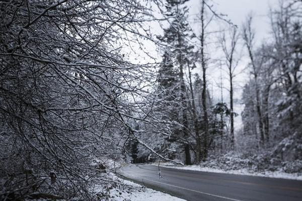 <p>Snow and ice blanket Hood River, Ore., Tuesday, Feb. 5, 2019. Winter weather complicated commutes in parts of Oregon Tuesday and may return later in the week.</p>