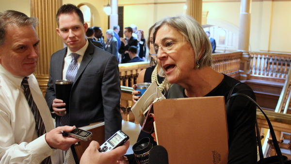 Republican Senate President Susan Wagle is leading the charge for a tax relief plan that could lock up funds the governor wants for schools and roads.