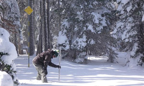 <p>Scientists measure snowpack levels every winter to determine upcoming water supplies. </p>