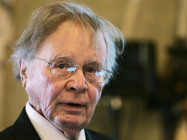 """Wallace Broecker, a professor at Columbia University in New York, speaking during the Balzan Prize ceremony in Rome in 2008. Broecker, a climate scientist who popularized the term """"global warming,"""" died Monday."""
