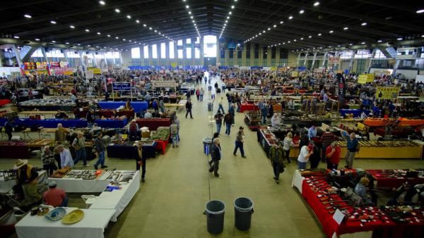 About 40,000 people attend Wanenmacher's Tulsa Arms Show, which is held twice-annually in Tulsa, Okla.