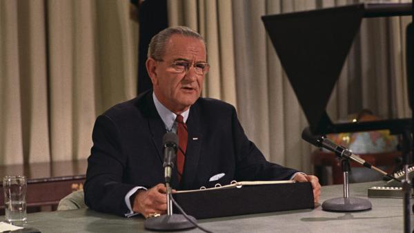 President Lyndon B. Johnson seen here in March 1968. October 22 of that year, Johnson signed the Gun Control Act of 1968 into law.