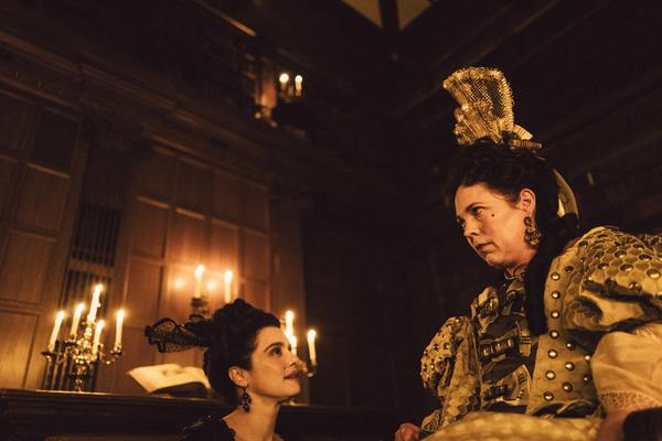 Rachel Weisz and Olivia Colman star in <em>The Favourite, </em>one of the films up for best picture at this year's Academy Awards.