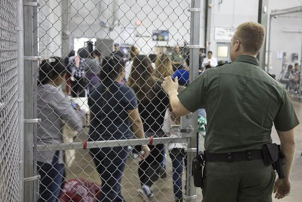 Undocumented immigration children are processed at a Border Patrol center in McAllen.