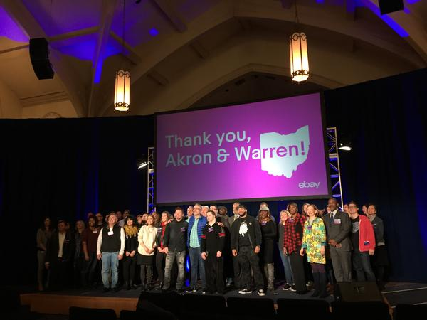 Officials from Akron, Warren and eBay celebrated the 12-month 'Retail Revival' program, which has since expanded to Michigan, South Carolina, Canada and Great Britain.