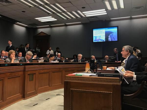 Commissioner of Administration Jay Dardenne presents the Administration's budget proposal for next fiscal year to the Joint Legislative Committee on the Budget.