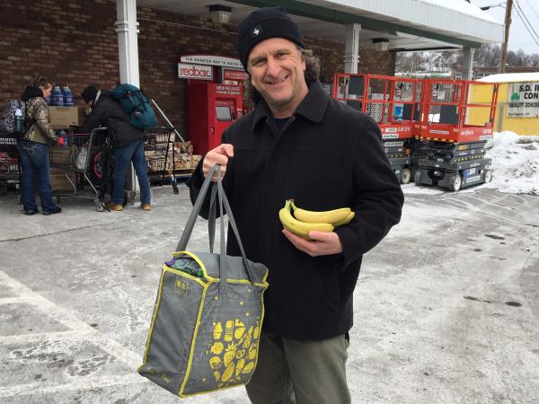 Vic Guadagno from Montpelier says it's easy to bring your own bag to the supermarket.