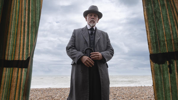 John Malkovich plays Agatha Christie's iconic detective Hercule Poirot in the three-part Amazon Prime miniseries, <em>The ABC Murders.</em>