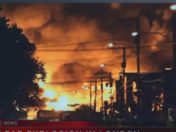 The Netflix series <em>Travelers</em> uses video footage from an oil train disaster in Lac-Megantic, Quebec for its fictional series about time-travelers. The use of the footage has angered Canadians.