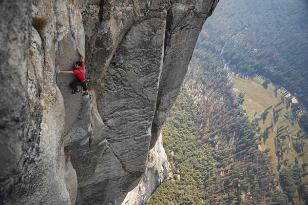 Alex Honnold's ascent of El Capitan in Yosemite National Park — without ropes or safety equipment — was the subject of the documentary film <em>Free Solo.</em>