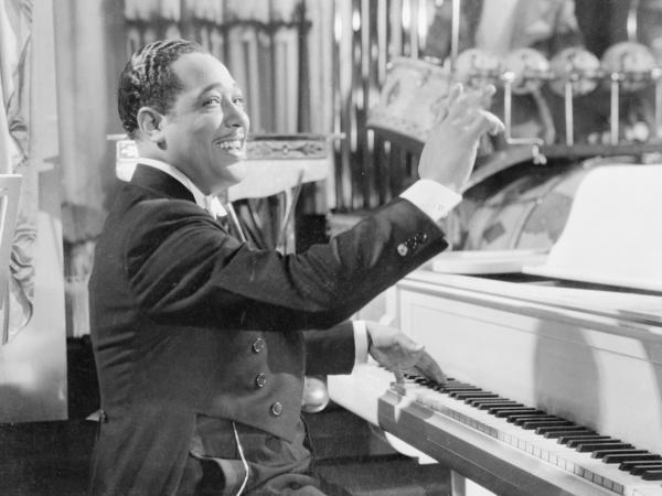 Duke Ellington at the piano, circa 1940.