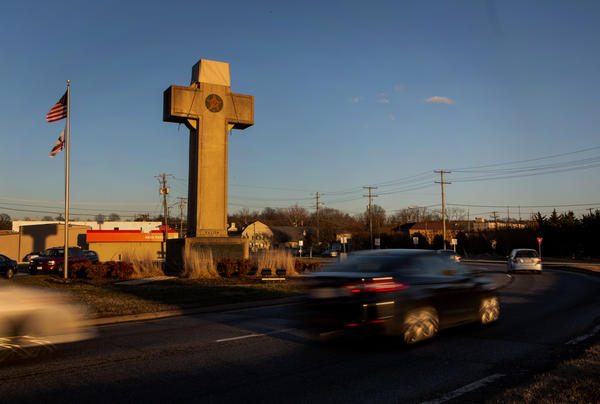 The Peace Cross in Maryland is a memorial to veterans from World War I.