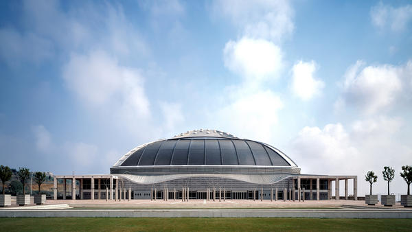 The Palau Sant Jordi, an indoor arena designed by Arata Isozaki that was used for the 1992 Barcelona Summer Olympics.