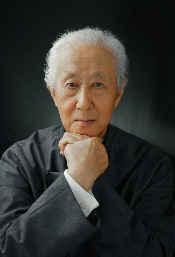 Arata Isozaki, winner of the 2019 Pritzker Prize, poses for a photograph. Isozaki is the eighth Japanese-born architect to win the prestigious prize.