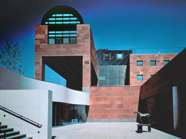 """The Museum of Contemporary Art in Los Angeles, which Arata Isozaki designed in the 1980s and which the museum's director, Klaus Biesenbach, describes as a """"jewel out of its time."""""""