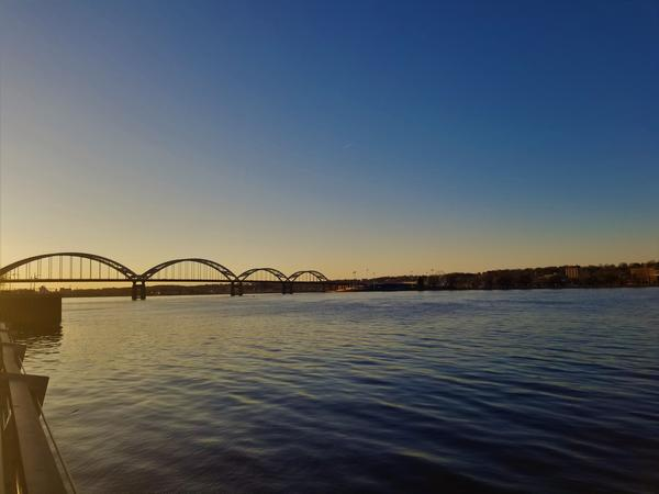 The Mississippi running through the Quad Cities